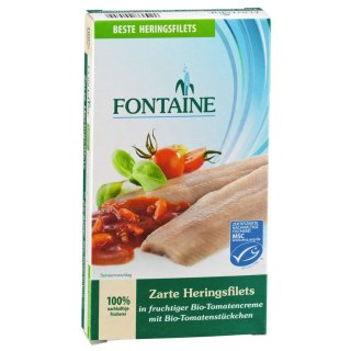 Hering-Filets zart in Bio Tomatencreme 12x200gr